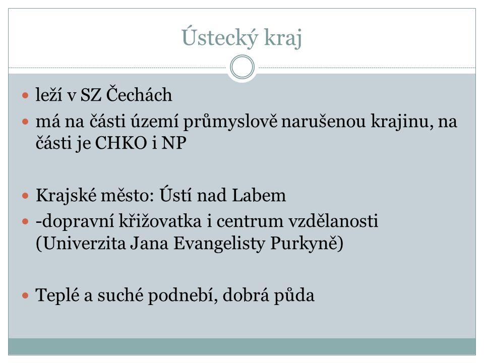 Ústecký kraj-povrch a vodstvo Jádro kraje tvoří Mostecká pánev Na SZ.