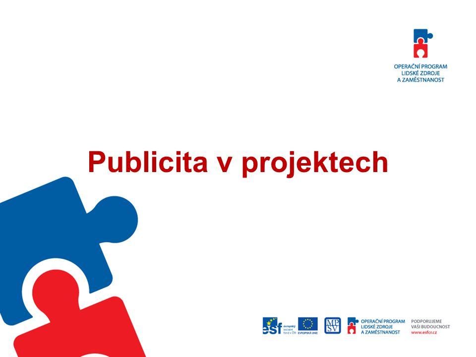 Publicita v projektech