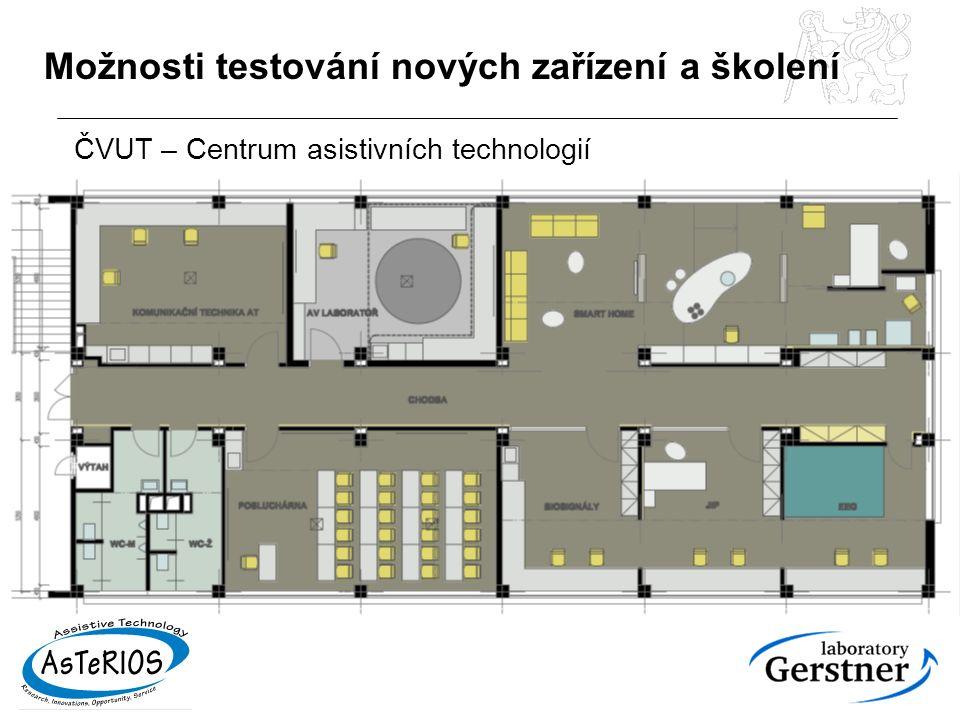 Možnosti testování nových zařízení a školení ČVUT – Centrum asistivních technologií
