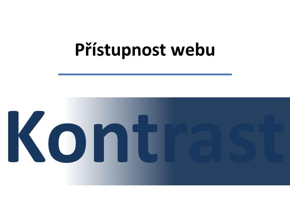Přístupnost webu Kontrast