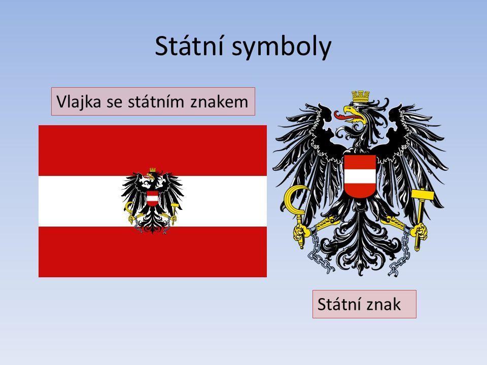 Státní symboly Vlajka se státním znakem Státní znak