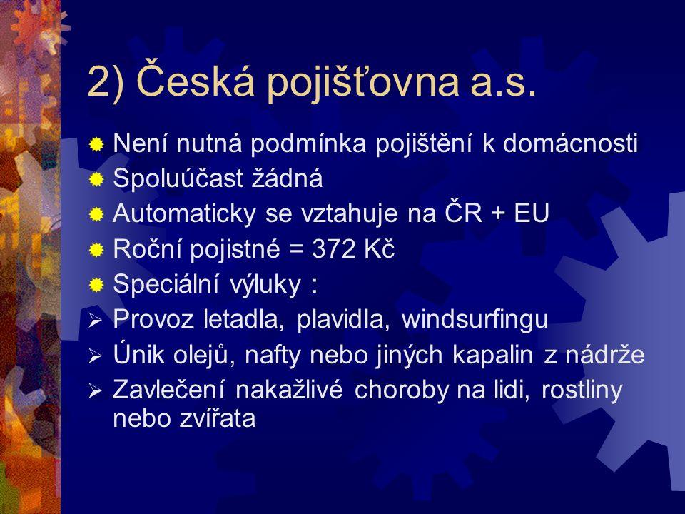 2) Česká pojišťovna a.s.