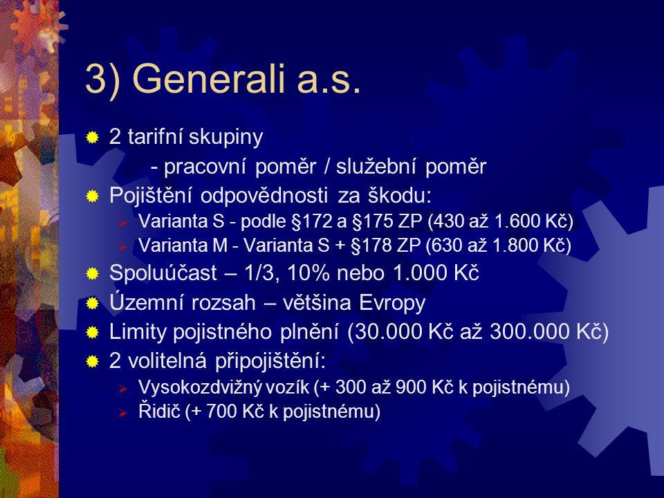 3) Generali a.s.