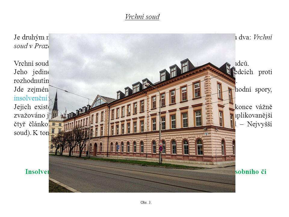Je druhým nejvyšším článkem soustavy českých obecných soudů.