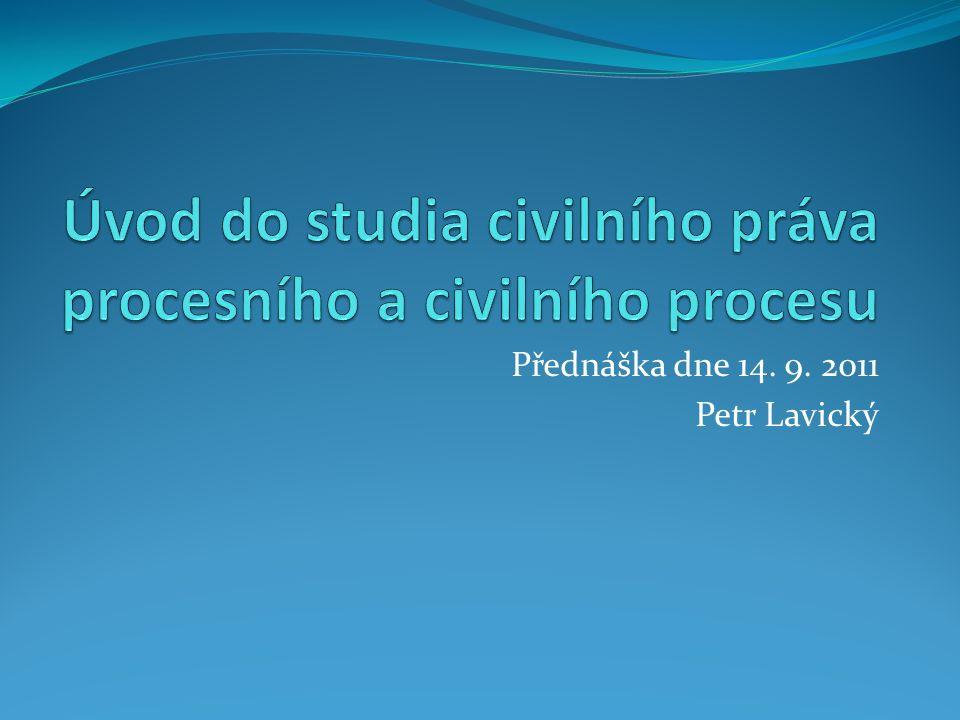 Přednáška dne 14. 9. 2011 Petr Lavický