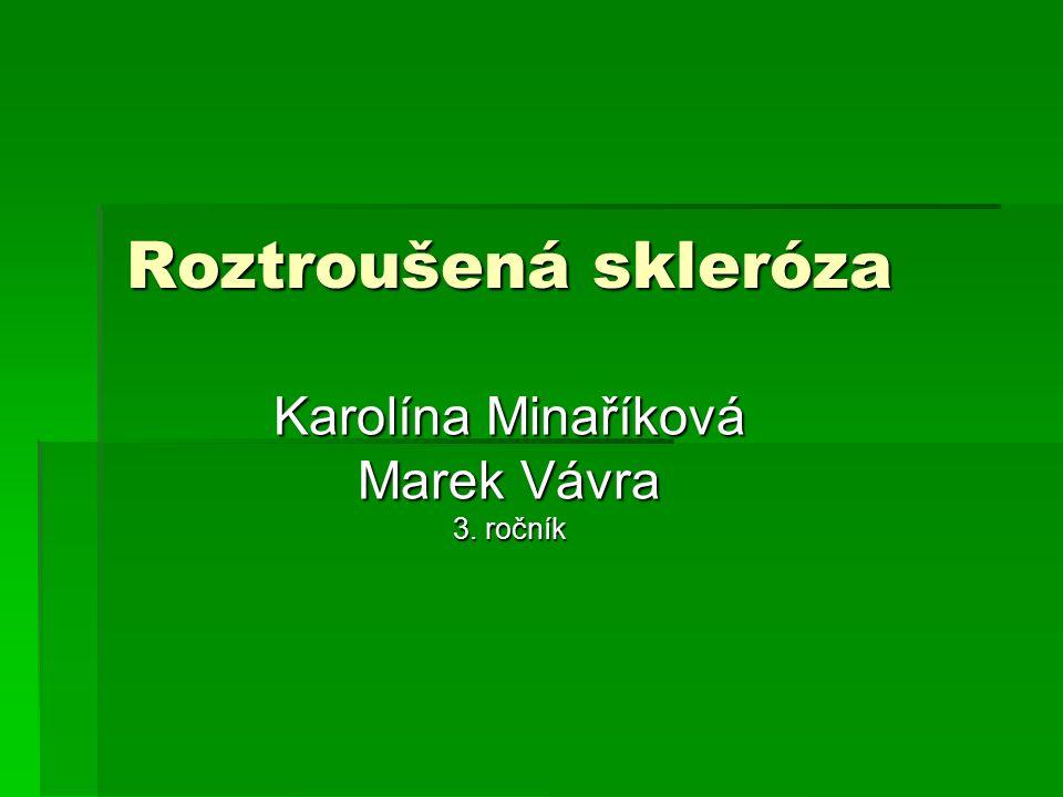 Roztroušená skleróza Karolína Minaříková Marek Vávra 3. ročník