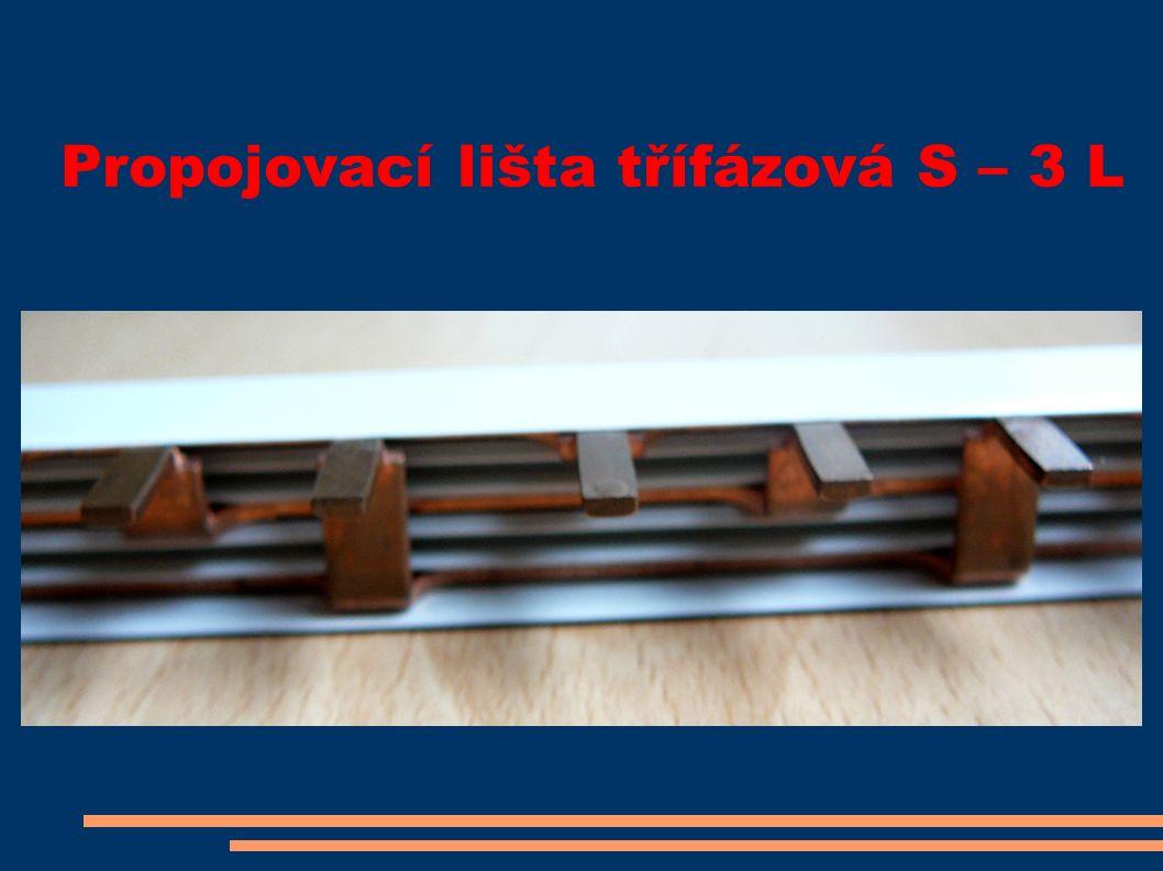 Propojovací lišta třífázová S – 3 L