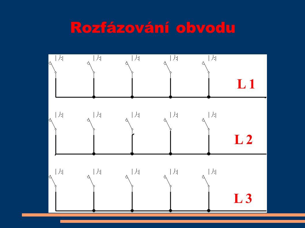 Rozfázování obvodu L 1 L 2 L 3