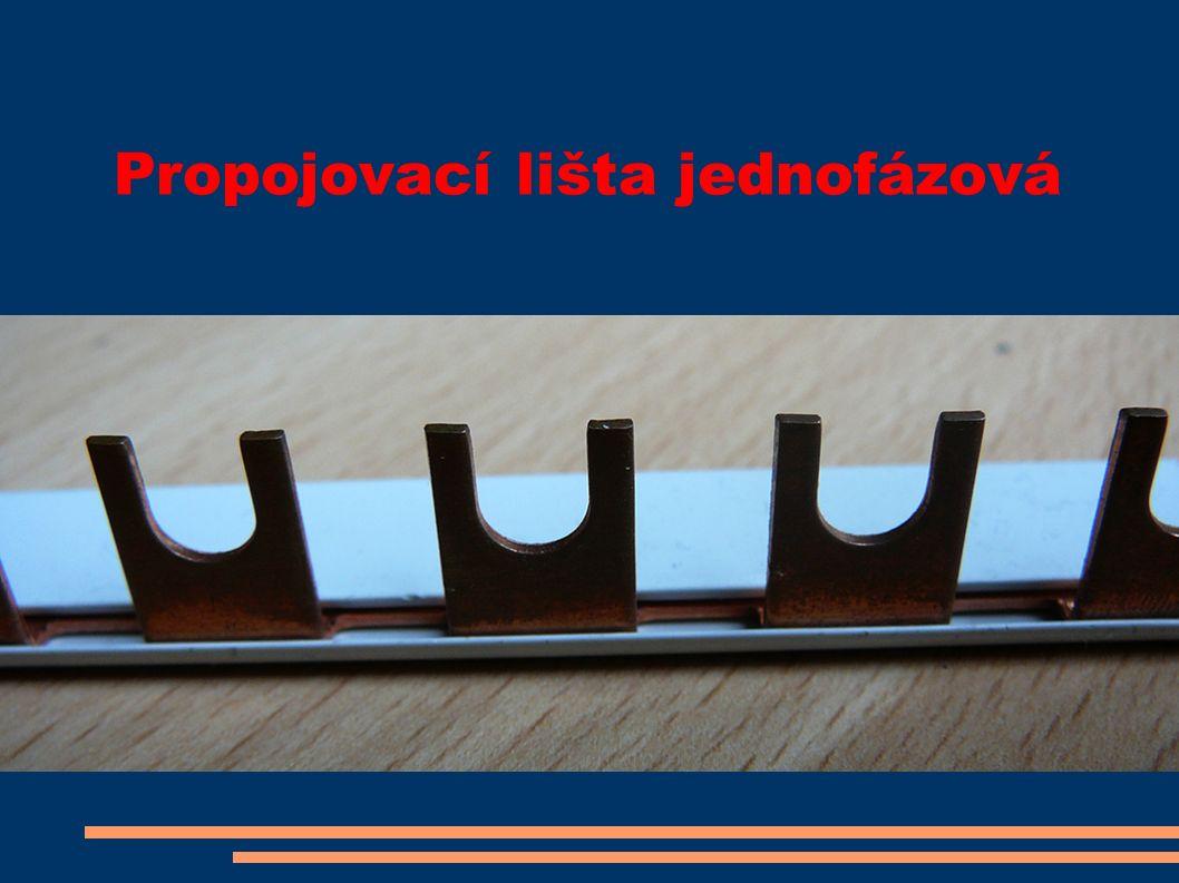 Propojovací lišta jednofázová