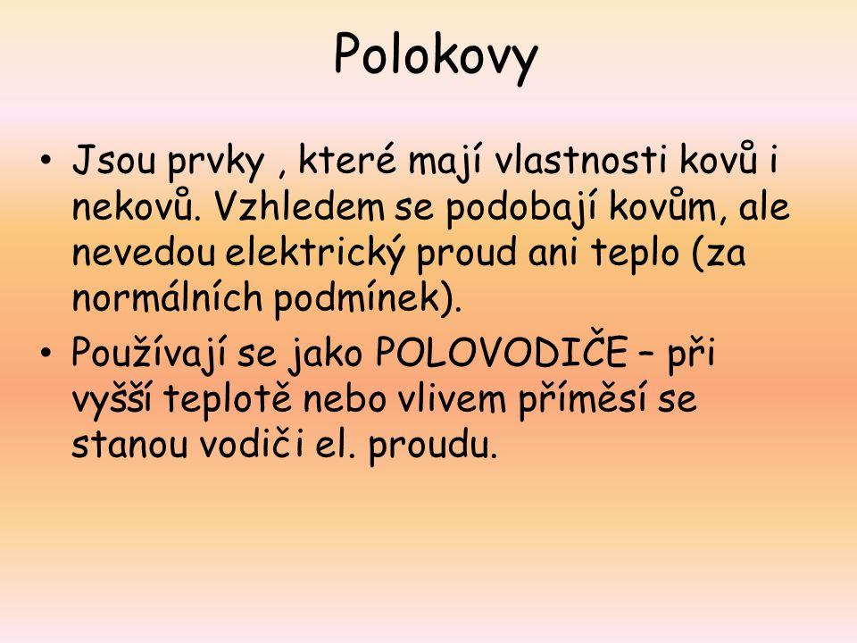 Umístění polokovů v PSP zdroj obrázku: http://www.broukej.cz/tabulka/files/periodicka-tabulka.png