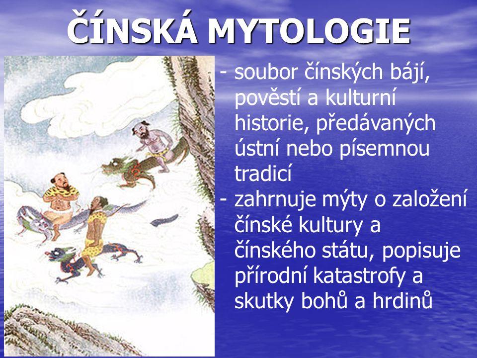 MAYSKÁ MYTOLOGIE -mezoamerického bájesloví a zahrnuje všechny příběhy Mayů, ve kterých jsou zosobněny přírodní síly, božstva a hrdinové, kteří vzájemným působením hrají v příbězích hlavní role -Mayský pantheon byl rozsáhlý, stejně jako římský či antický, mezi jednotlivými bohy existovala rodinná pouta Itzamna - nejdůležitější bůh, stvořitel Ix Chel - bohyně Měsíce, léčitelství a deště, manželka Itzamna