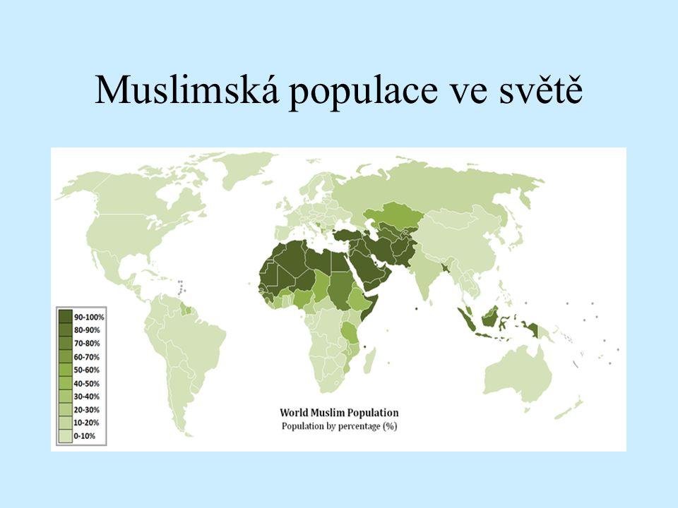 Muslimská populace ve světě