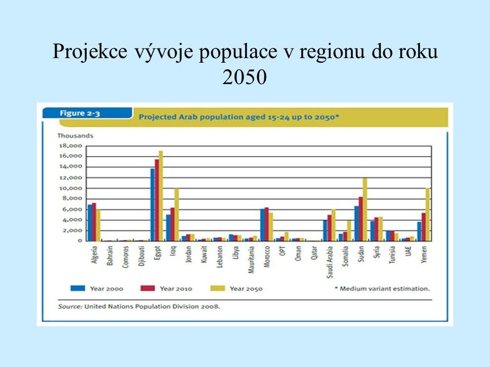 Projekce vývoje populace v regionu do roku 2050