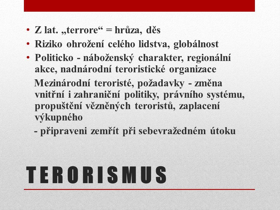 TERORISTICKÝ ÚTOK NA WTO 11. 9. 2001