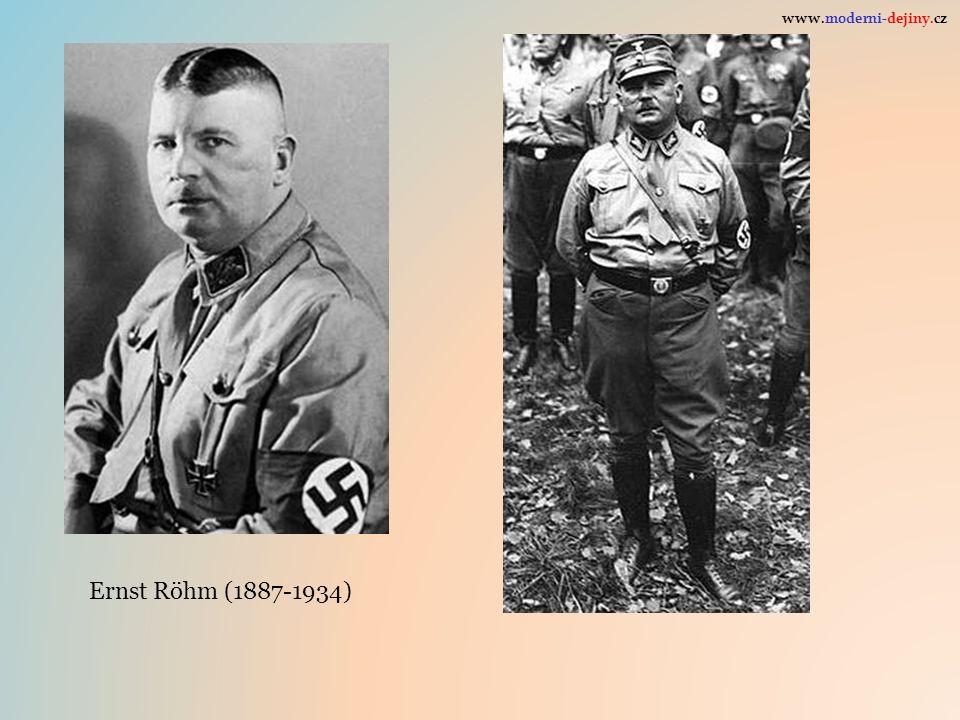 Ernst Röhm (1887-1934) www.moderni-dejiny.cz