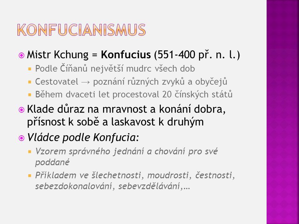  Mistr Kchung = Konfucius (551-400 př. n.
