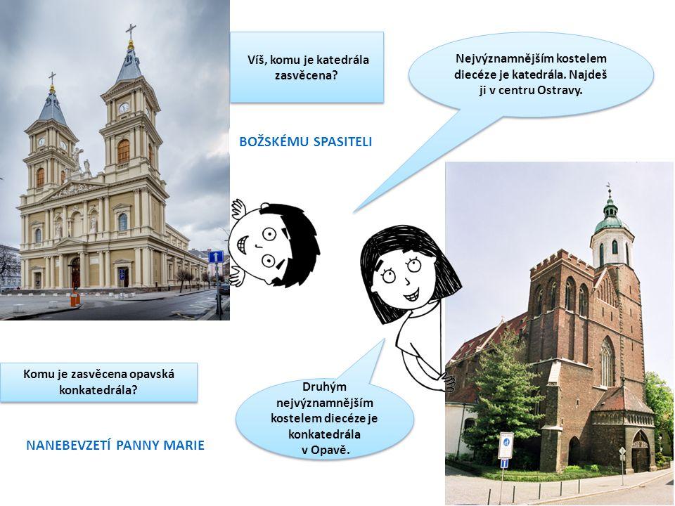 Nejvýznamnějším kostelem diecéze je katedrála. Najdeš ji v centru Ostravy.