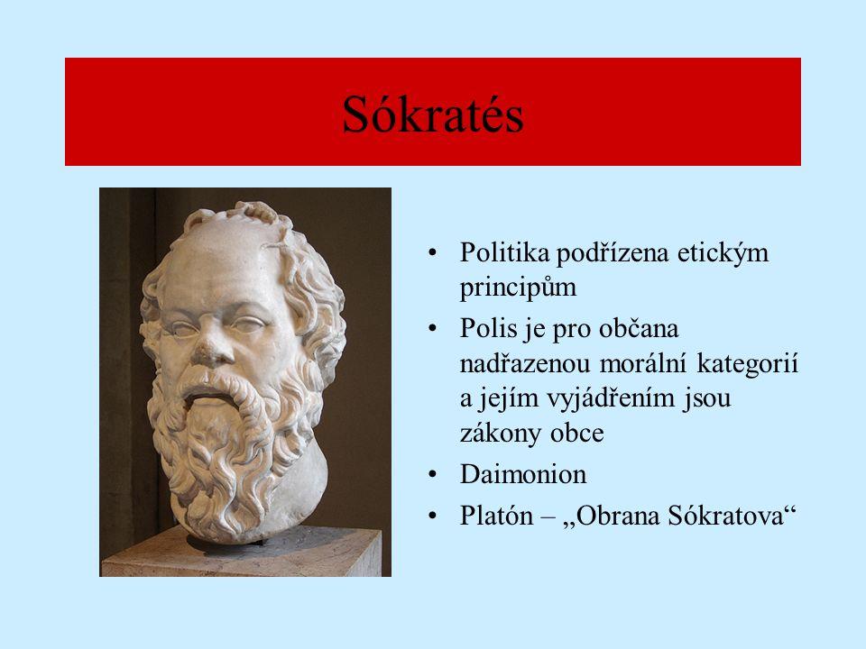 """Platón Hlavní spisy zabývající politikou : –""""Politea –""""Politikos –""""Nomoi"""