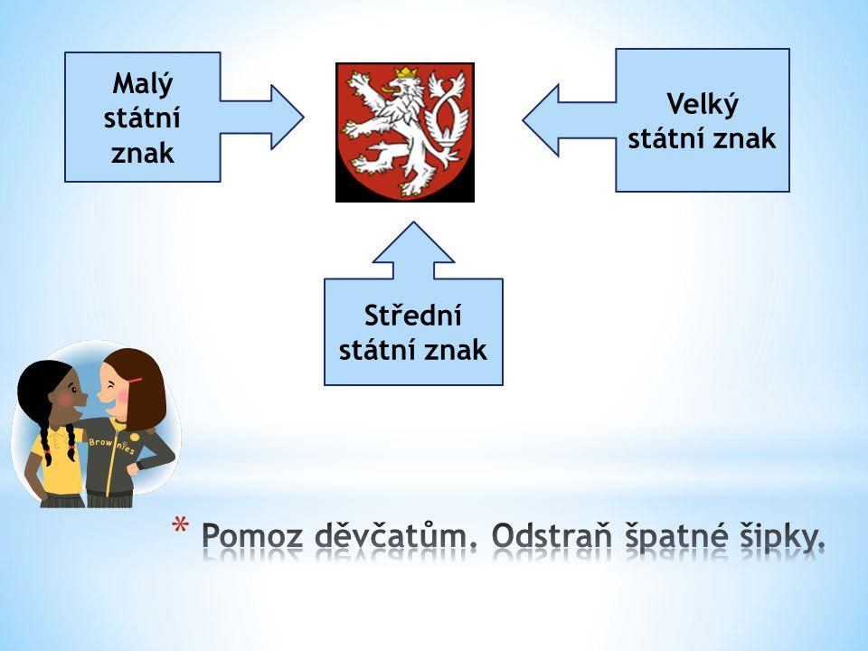 Malý státní znak Velký státní znak Střední státní znak