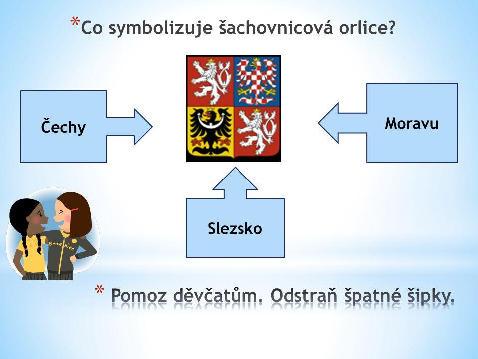 * Co symbolizuje šachovnicová orlice? Čechy Moravu Slezsko