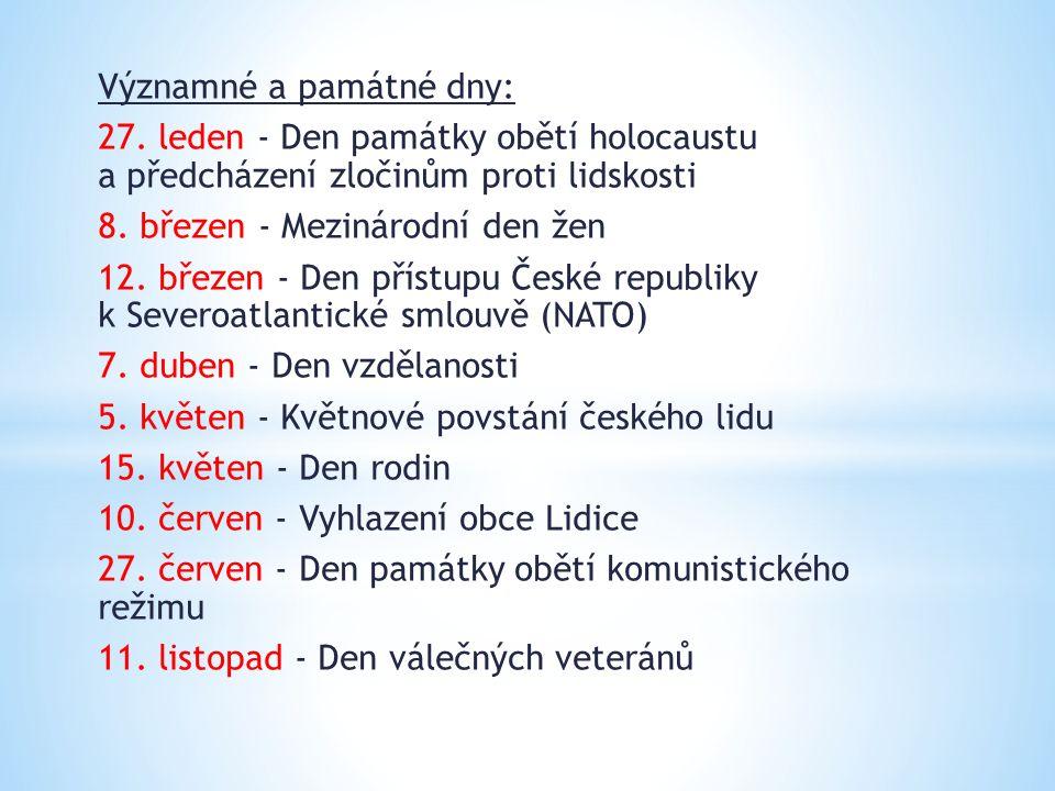 Významné a památné dny: 27.