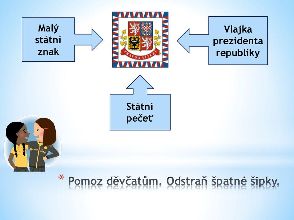 Malý státní znak Vlajka prezidenta republiky Státní pečeť