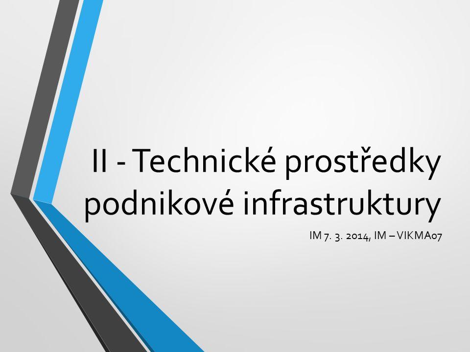 II - Technické prostředky podnikové infrastruktury IM 7. 3. 2014, IM – VIKMA07