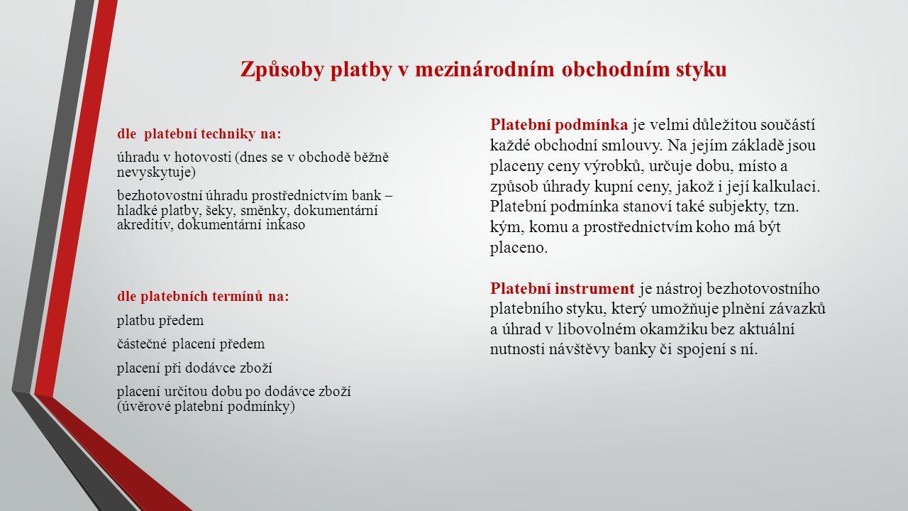 Náležitosti kupní smlouvy – dodací parita – incoterms 2010 Dodací parita neboli dodací podmínka vyjadřuje povinnosti smluvních stran v souvislosti s dodávkou a převzetím zboží.