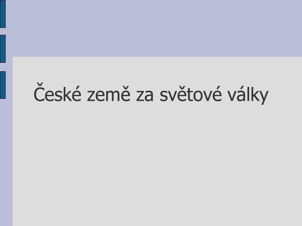 České země za světové války