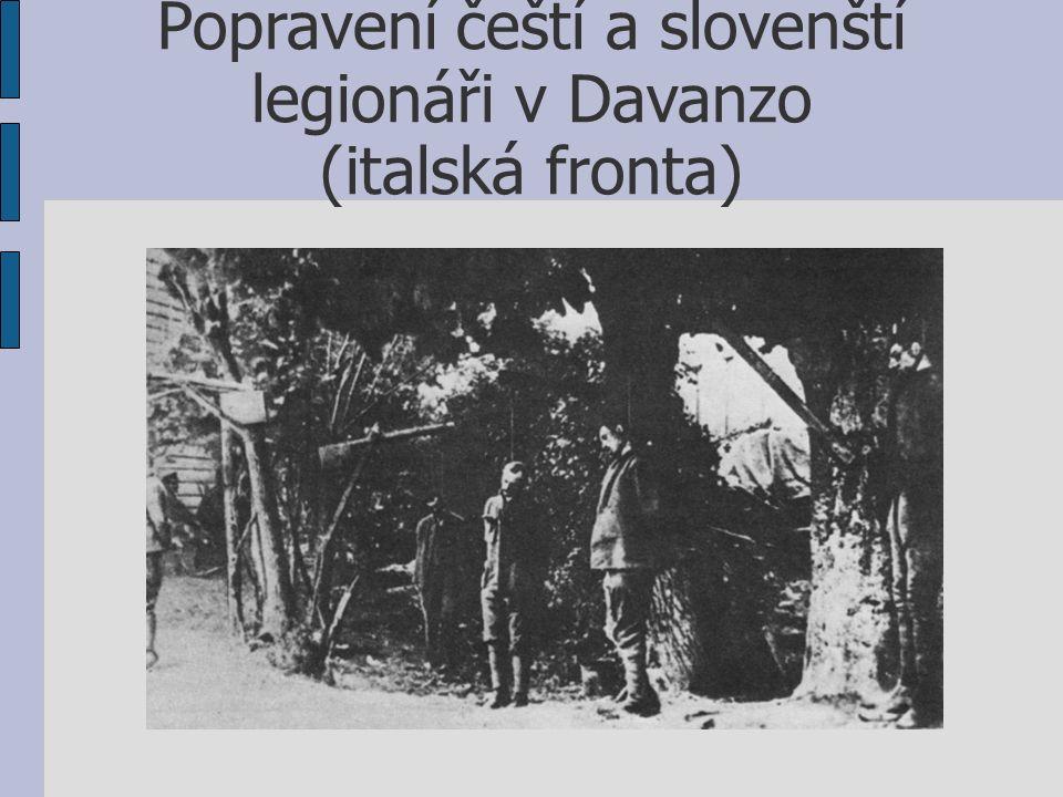 Popravení čeští a slovenští legionáři v Davanzo (italská fronta)
