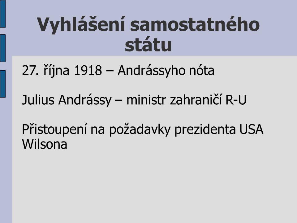 Vyhlášení samostatného státu 27.