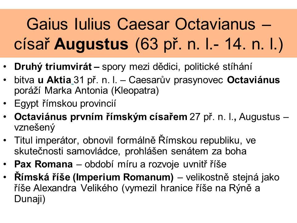 Gaius Iulius Caesar Octavianus – císař Augustus (63 př.