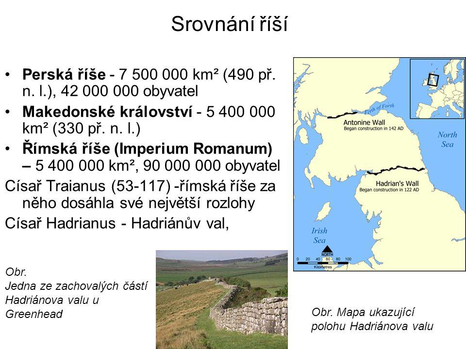 Srovnání říší Perská říše - 7 500 000 km² (490 př.