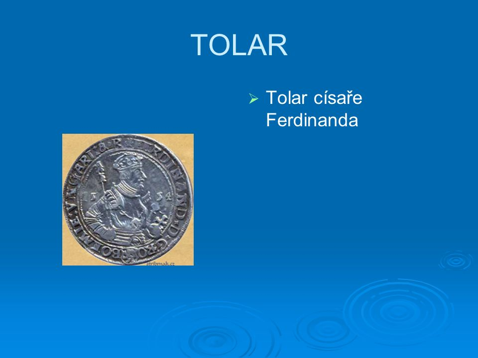 TOLAR   Tolar císaře Ferdinanda