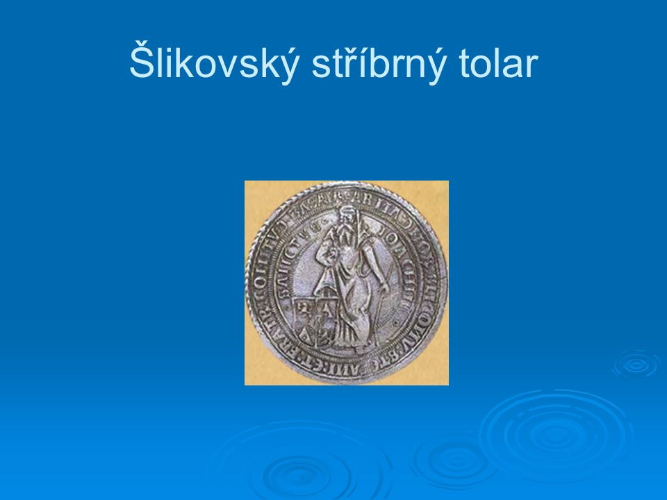 Šlikovský stříbrný tolar