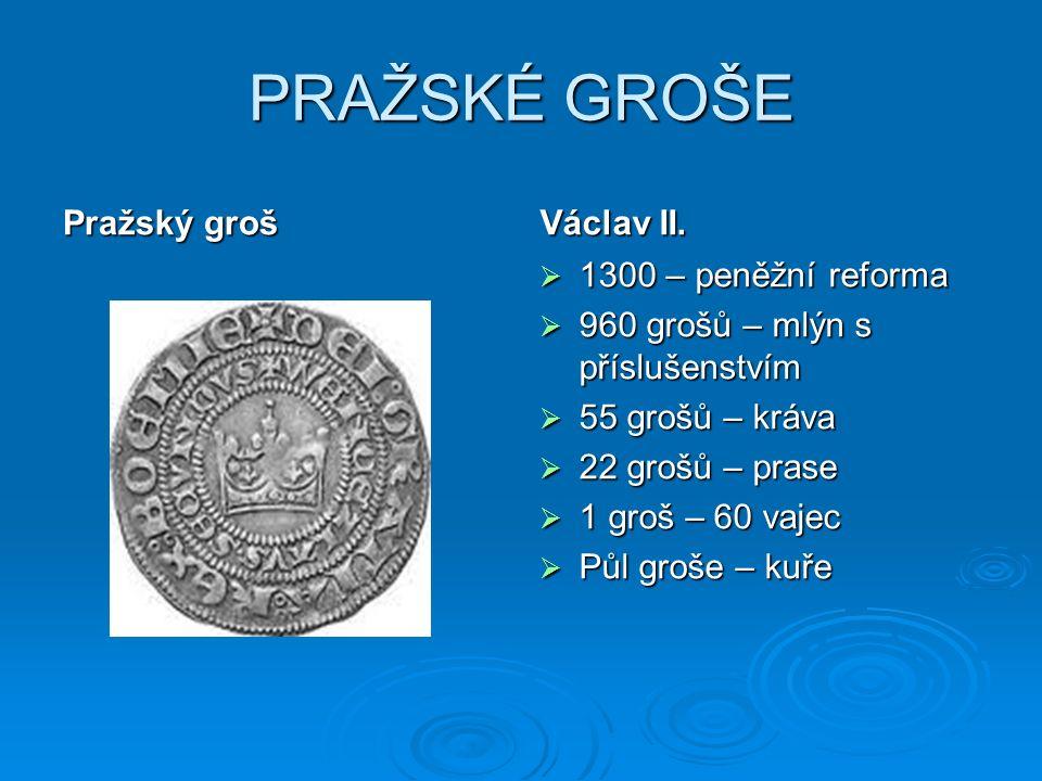 PRAŽSKÉ GROŠE Pražský groš Václav II.