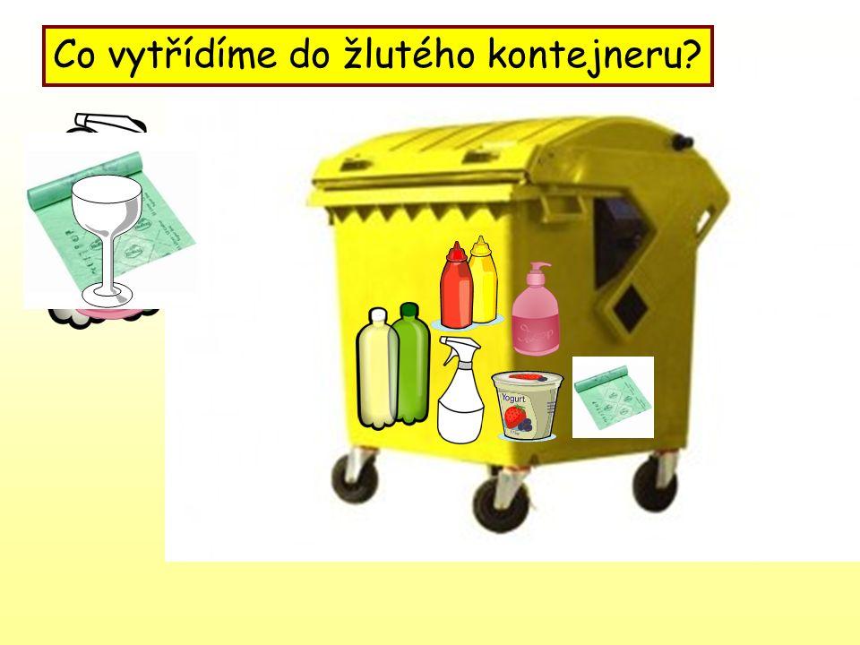 Co vytřídíme do žlutého kontejneru?