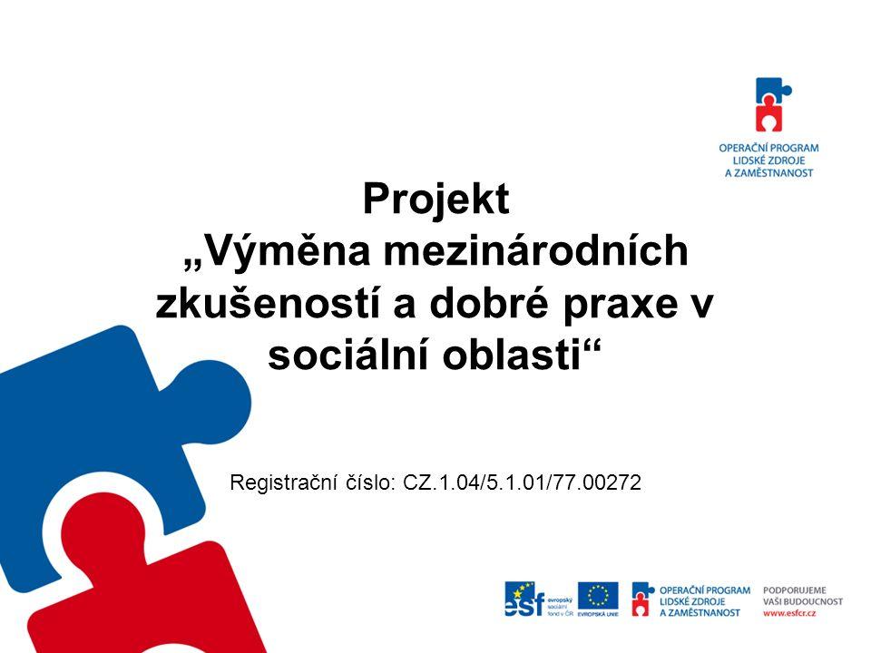 Název projektu: Výměna mezinárodních zkušeností a dobré praxe v sociální oblasti Název oblasti podpory: Mezinárodní spolupráce Číslo výzvy: 77.