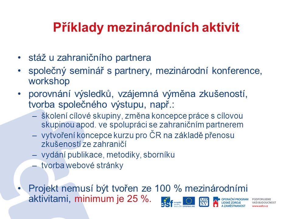 Problémy partnerství Nesynchronizované výzvy v členských státech EU/Problém zahr.