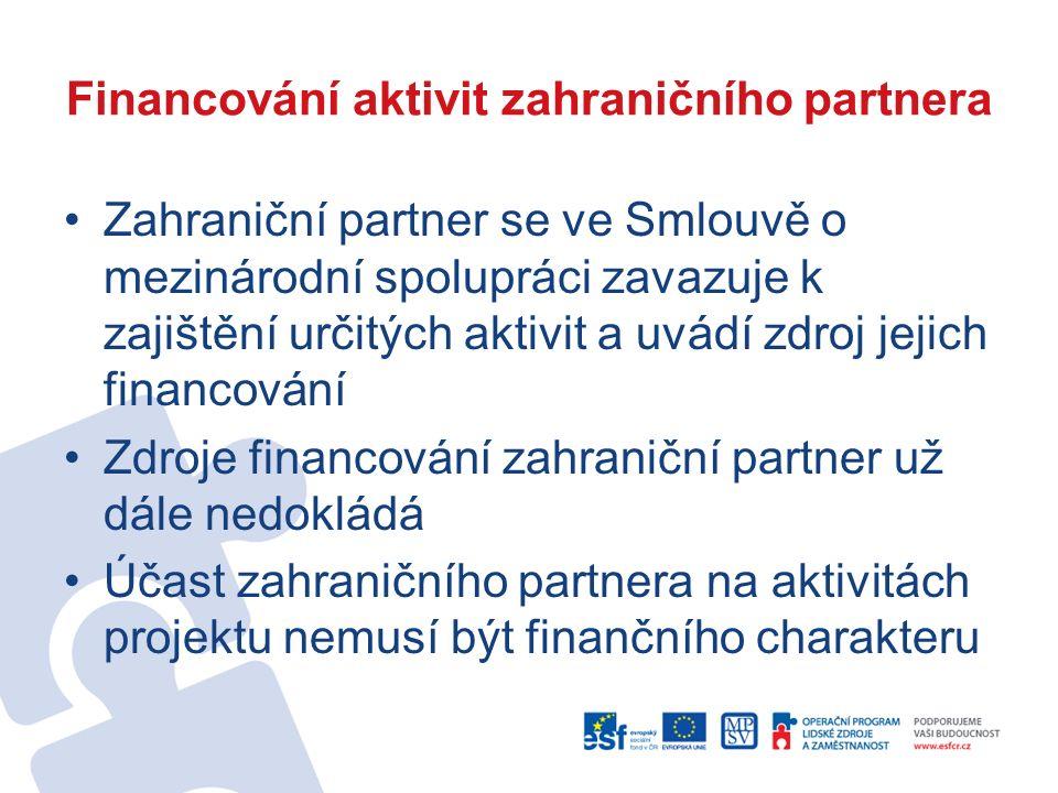 Přílohy žádosti (1) Povinné přílohy žádosti: –Doklad o právní subjektivitě –Potvrzení záměru o spolupráci se zahraničním partnerem (Letter of Intent) Úspěšní žadatelé doloží: –Prohlášení o bezdlužnosti vůči veřejné správě a zdravotním pojišťovnám –Prohlášení o partnerství –Smlouva o mezinárodní spolupráci –Prohlášení velikosti podniku –Přehled ekonomické a finanční situace žadatele, který je podnikatelským subjektem
