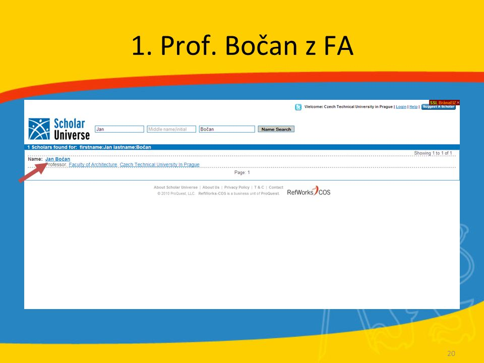 1. Prof. Bočan z FA 20
