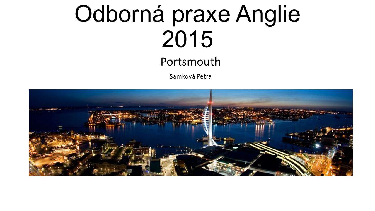 Odborná praxe Anglie 2015 Portsmouth Samková Petra