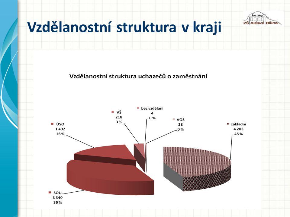 Vzdělanostní struktura v kraji