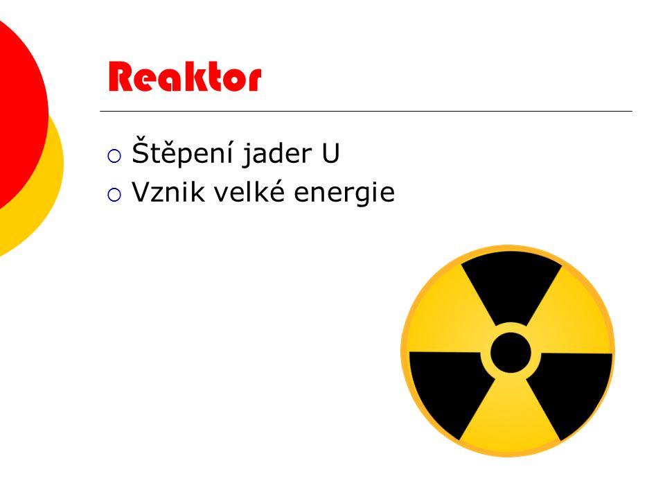 Jak funguje? JJaderná elektrárna funguje na stejném principu jako uhelná elektrárna UU obou typů se elektrická energie vyrábí v generátoru poháněn