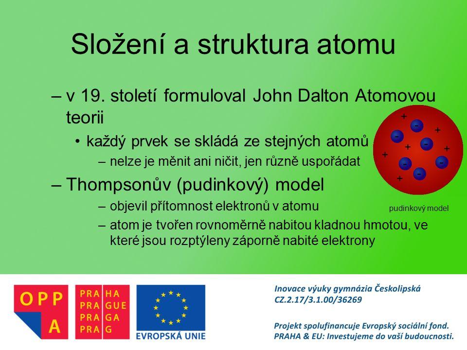 Složení a struktura atomu –v 19.