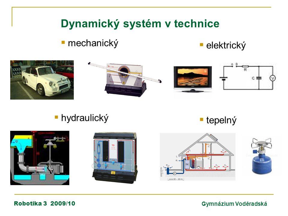 Robotika 3 2009/10Gymnázium Voděradská Dynamický systém v technice  elektrický  tepelný  mechanický  hydraulický