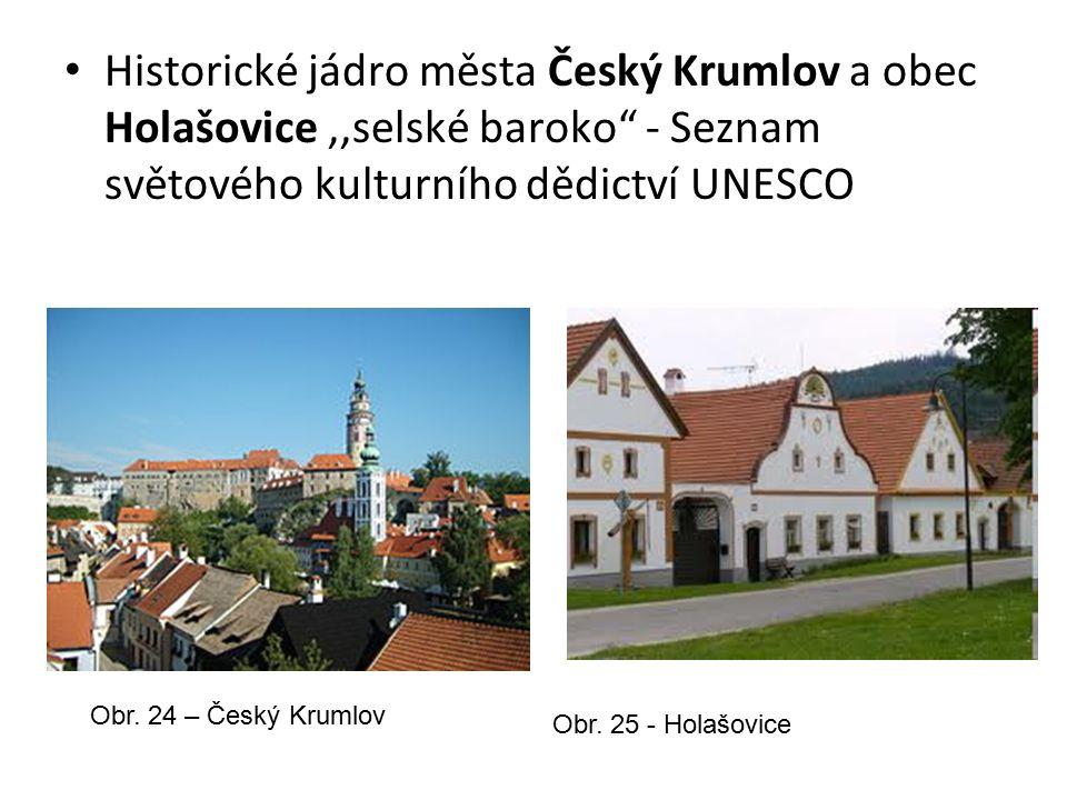 Historické jádro města Český Krumlov a obec Holašovice,,selské baroko - Seznam světového kulturního dědictví UNESCO Obr.