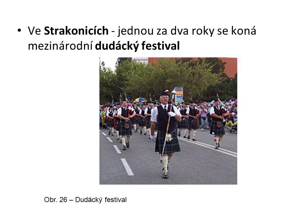 Ve Strakonicích - jednou za dva roky se koná mezinárodní dudácký festival Obr.