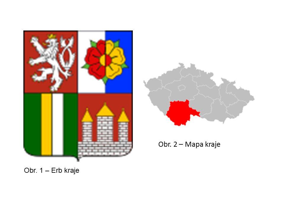 Obr. 2 – Mapa kraje Obr. 1 – Erb kraje