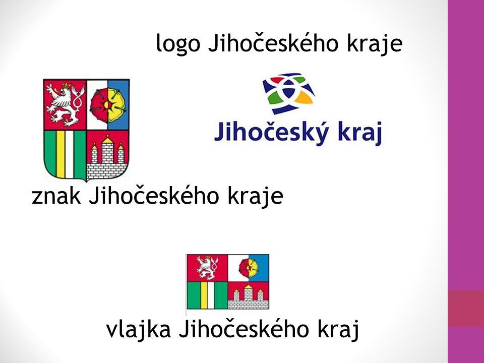 znak Jihočeského kraje logo Jihočeského kraje vlajka Jihočeského kraj
